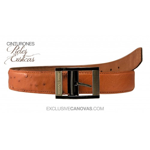 Belt ostrich skin Color leather