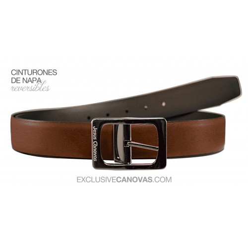 Brown Reversible belt