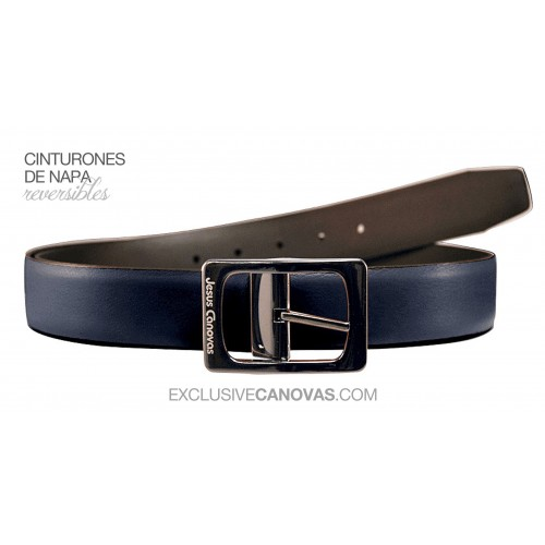 Navy Reversible belt